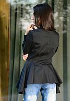 Черная женская блузка до длинного рукава