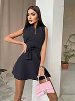 Сукня міні жіноче красиве стильне з бантом на блискавці Smma6568