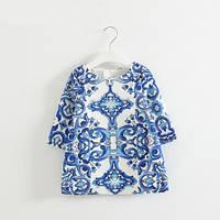 Детское платье туника гжель