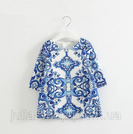1dd527c303f Детское платье туника гжель - Интернет магазин одежды и аксессуаров