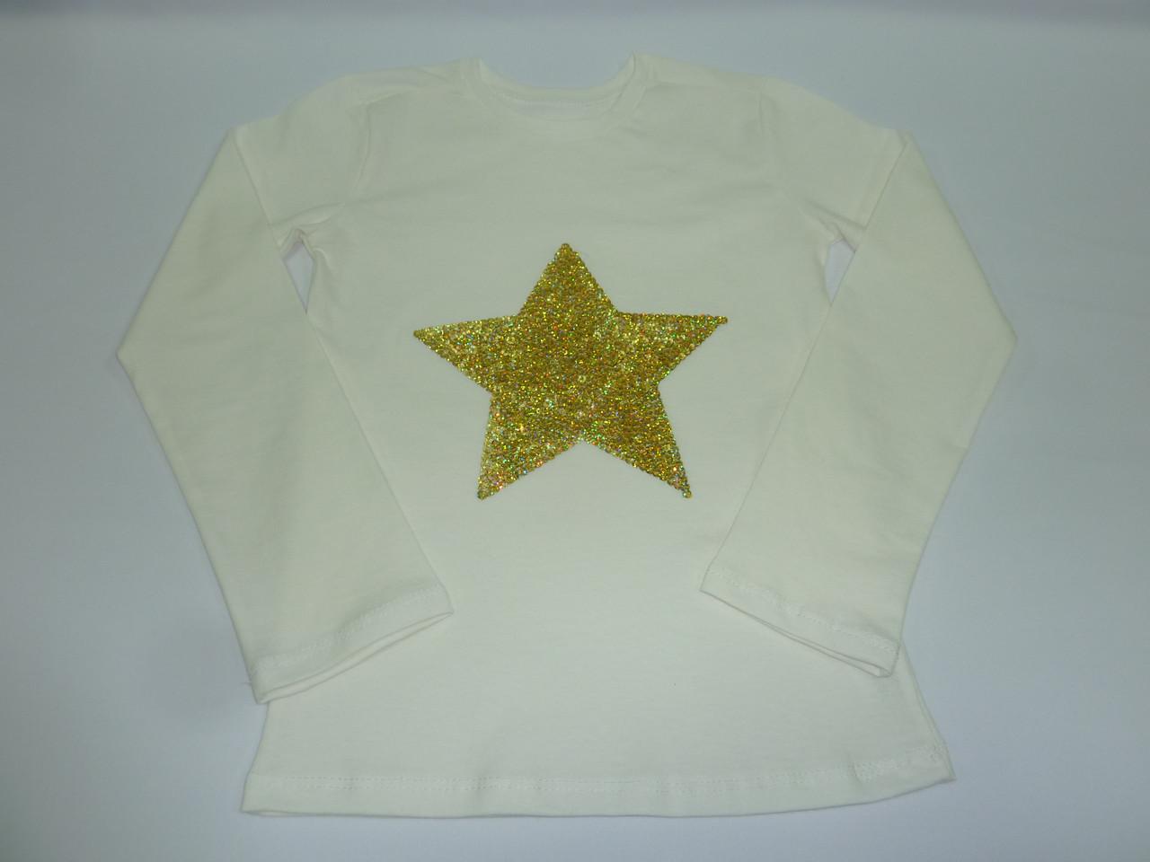 Детский топ с пайетками звезда
