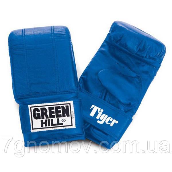 """Перчатки снарядные (блинчики) TIGER"""" Green Hill кожа М красные"""