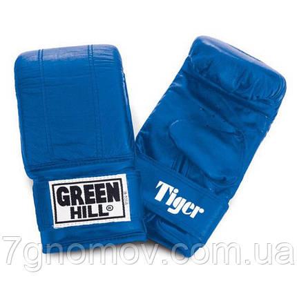 """Перчатки снарядные (блинчики) TIGER"""" Green Hill кожа М красные, фото 2"""