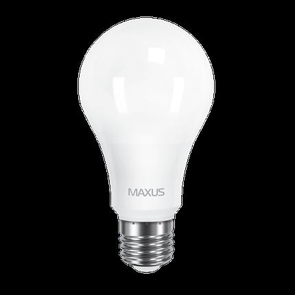 Лампа LED MAXUS A65 12W 4100K 220V E27 Яркий белый , фото 2