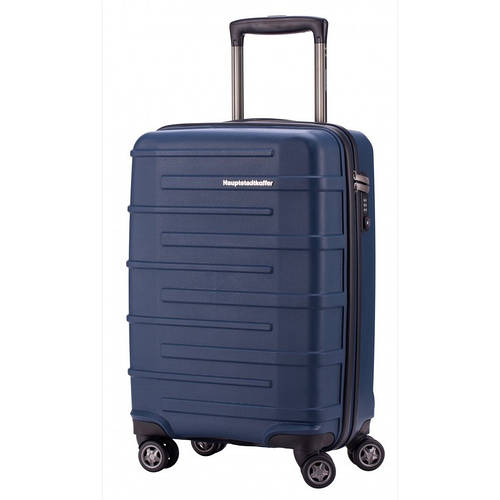 4-колесный малый чемодан для путешествий 37 л. HAUPTSTADTKOFFER ostkreuz mini blue синий
