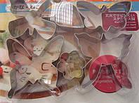 Форма для печенья металическая бабочка 6шт (код 01929)