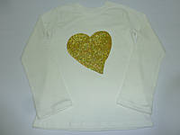 Детский топ с пайетками сердце, фото 1