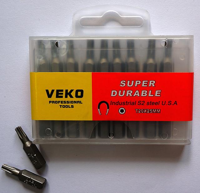 Биты VEKO T20*25 мм (20 шт. в упаковке)