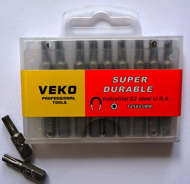 Биты VEKO T25*25 мм (20 шт. в упаковке)