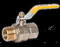 "Кран шаровый для газа 3/4"" НB желтая ручка RS-K Италия, фото 1"