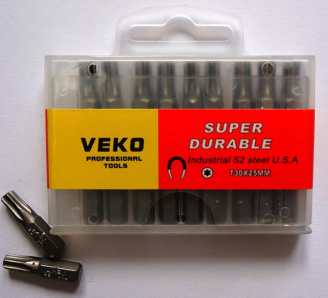Биты VEKO T30*25 мм (20 шт. в упаковке)