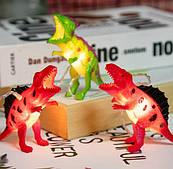 Гирлянда Динозавры 2 м, LED10 работает   от батареек