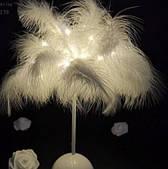 Ночник Пальма из нежных перьев