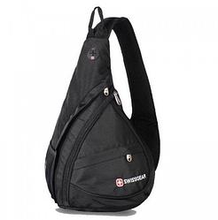 Рюкзак сумка Swissgear Wenger 701 міській з виходом для навушників на одне плече Чорний