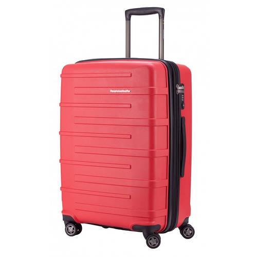 Надежный большой 4-колесный чемодан 87 л. HAUPTSTADTKOFFER ostkreuz midi red