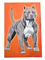"""""""Пёс Тайсон"""", картина маслом"""