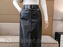 """Юбка женская эко-кожа с ремешком, размеры S-M-L """"MONRO"""" недорого от прямого поставщика"""
