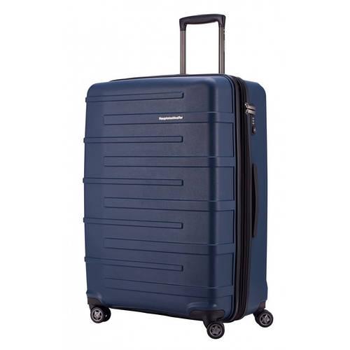 Надежный 4-колесный дорожный чемодан-гигант 126 л. HAUPTSTADTKOFFER ostkreuz maxi blue синий