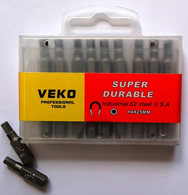 Бита VEKO H4*25MM   (20 шт. в упаковке)