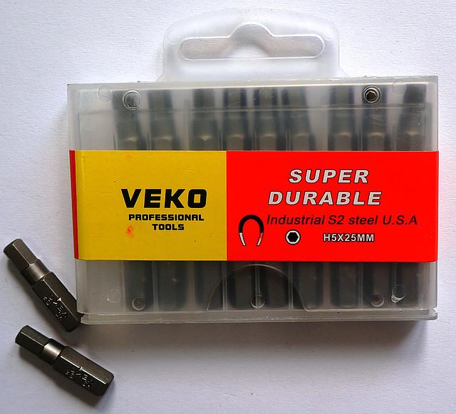 Бита VEKO H5*25MM (20 шт. в упаковке)