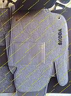 Текстильные коврики в салон на Skoda Superb (Шкода Суперб) 08-