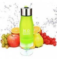 Бутылка фляга спортивная, для школы для воды и напитков ЗЕЛЕНАЯ H2O Water Bottle 650 мл FoxDemo
