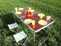 Стол раскладной для пикника с 4 стульями Стіл для пікніка 120х60х55/60/70 см FoxDemo