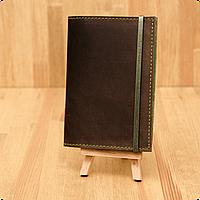 Кожаная обложка на паспорт Орех - Фисташка