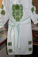 """Плаття для дівчинки """"Радість"""" зелене"""