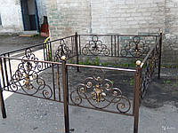 Кованая оградка для кладбища