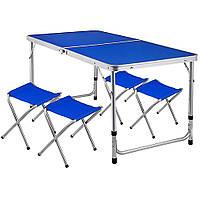 Стол раскладной для пикника с 4 стульями
