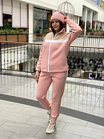 Спортивний костюм на флісі Пудра