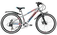 """Велосипед Winner 24"""" BULLET-Disk рама 12,5"""" (хром)"""