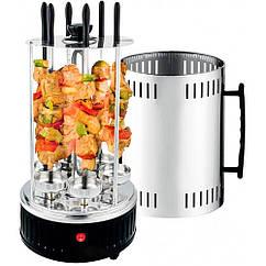 Электрошашлычница вертикальная Kebabs Machine на 6 шампуров 1000W / Шашлычница