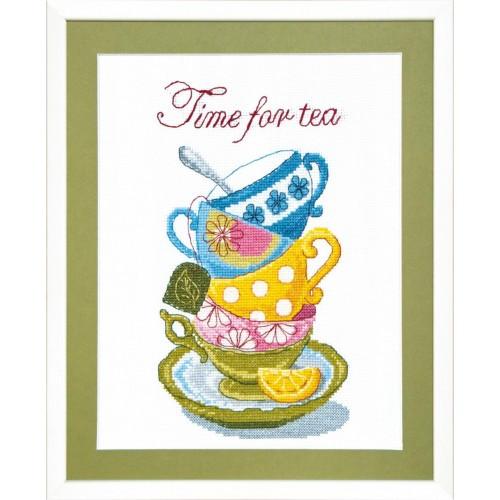 Время для чая вышивка