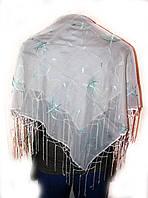 Платок женский с цветным узором 1м