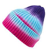 Шапка вязаная разноцветная/ шапка с отворотом /шапка мужская /шапка женская/ шапка подростковая