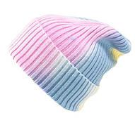 Шапка вязаная разноцветная/ шапка с отворотом /шапка мужская /шапка женская/ подростковая шапка