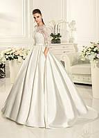 Свадебное платье атлас юбка с карманами, фото 1