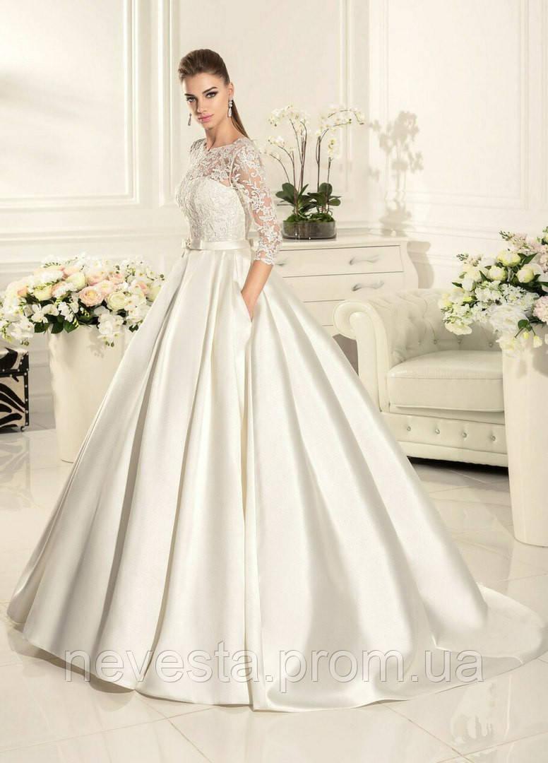 a0624393151 Свадебное платье атлас юбка с карманами - Свадебные платья