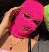 Балаклава розовая / маска розовая/ шапка розовая / головной убор / Шапка-подшлемник