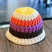 Шапка вязаная разноцветная/ разноцветная панама /головной убор