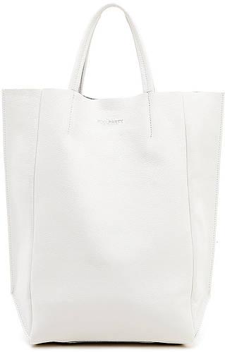 Вместительная женская кожаная сумка POOLPARTY BIGSOHO poolparty-bigsoho-white