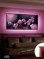 Картина с LED подсветкой Сакура