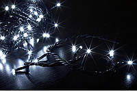 Гирлянда светодиодная LED 100 с черным проводом, фото 1