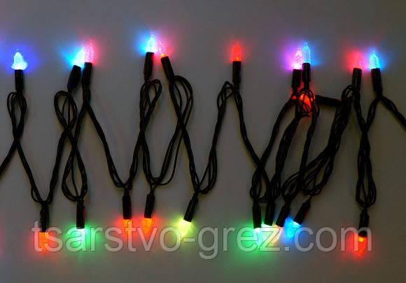 Гирлянда светодиодная LED 200 с черным проводом