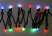 Гирлянда светодиодная LED 200 с черным проводом, фото 1