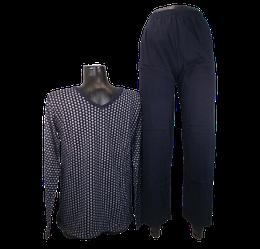 Чоловіча піжама з начосом Emre 085 L темно-синя