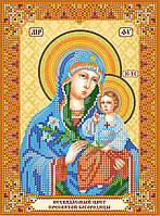 """Схема для вышивки бисером икона """"Богородица Неувядаемый цвет"""""""