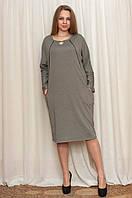 Женское платье кофейного цвета